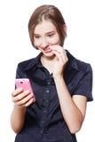Usando el teléfono Imágenes de archivo libres de regalías