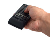 Usando il telecomando Fotografie Stock Libere da Diritti