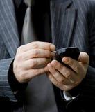 Usando Smartphone Fotografía de archivo