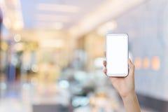 Usando Smartphone Fotografia Stock Libera da Diritti