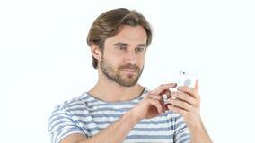 Usando Smartphone, mensaje que manda un SMS metrajes