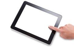 Usando una tableta de la pantalla táctil Fotos de archivo