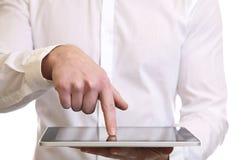 Usando una tablilla digital Foto de archivo libre de regalías