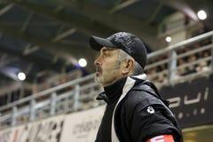 USAP contra Biarritz - rugbi francés de la tapa 14 Foto de archivo