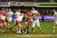 USAP contra Biarritz - rugby francês da parte superior 14 Fotos de Stock Royalty Free