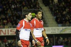 USAP contra Biarritz - rugby francês da parte superior 14 Fotos de Stock
