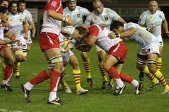 USAP contra Biarritz - rugby francês da parte superior 14 Imagem de Stock Royalty Free