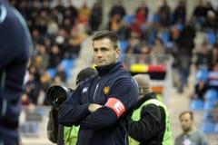 USAP contra Biarritz - rugby francês da parte superior 14 Imagens de Stock