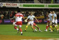 USAP contra Biarritz - rugby francês da parte superior 14 Imagem de Stock