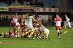 USAP contra Biarritz - rugby francês da parte superior 14 Foto de Stock Royalty Free