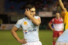 USAP contra Biarritz - rugby francês da parte superior 14 Fotografia de Stock Royalty Free