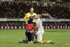 USAP contre Biarritz - rugby français du principal 14 Photos libres de droits