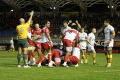 USAP contre Biarritz - rugby français du principal 14 Photographie stock libre de droits