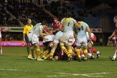 USAP contre Biarritz - rugby français du principal 14 Photographie stock