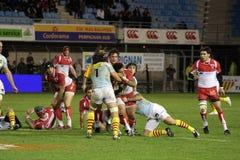 USAP contre Biarritz - rugby français du principal 14 Images libres de droits