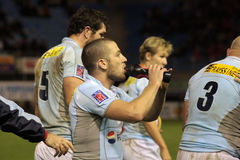 USAP contre Biarritz - rugby français du principal 14 Photos stock