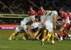 USAP contre Biarritz - rugby français du principal 14 Image libre de droits