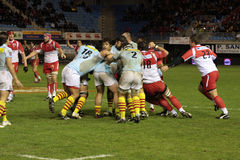 USAP contro Biarritz - rugby francese del principale 14 Immagini Stock Libere da Diritti