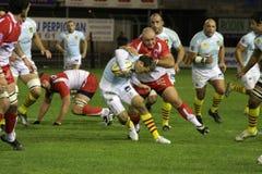 USAP gegen Biarritz - französisches Rugby der Oberseiten-14 Lizenzfreie Stockfotos