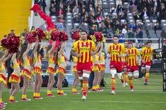 USAP Perpignan players Royalty Free Stock Images