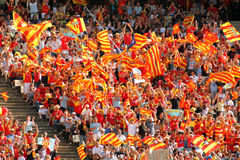 USAP Perpignan's supporters Stock Images