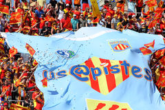 USAP Perpignan's supporters Stock Image