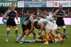 USAP versus Bayonne - Frans Hoogste Rugby 14 Stock Afbeeldingen