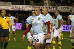 USAP versus Biarritz - Frans Hoogste Rugby 14 Royalty-vrije Stock Foto's