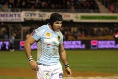 USAP versus Biarritz - Frans Hoogste Rugby 14 Royalty-vrije Stock Fotografie