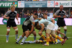 USAP vs Bayonne - French Top 14 Rugby Stock Images