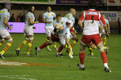 USAP vs Biarritz - French Top 14 Rugby Stock Photography