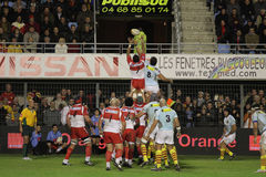 USAP vs Biarritz - French Top 14 Rugby Royalty Free Stock Images