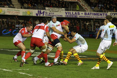 USAP vs Biarritz - French Top 14 Rugby Stock Images
