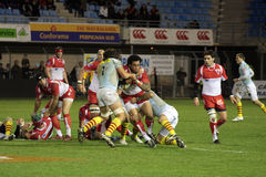 USAP vs Biarritz - French Top 14 Rugby Royalty Free Stock Photo