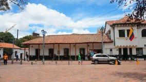 Usaquen är ett bostads- och kommersiellt område i nordliga Bogota, huvudstad av Colombia Royaltyfri Foto
