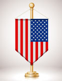 USAs flag on flagstaff Stock Images