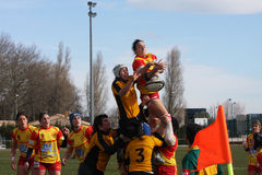usat v de spai de rugby d'allumette de la France getxo Photo stock