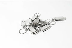 USB与金属住房的闪光驱动 免版税库存图片