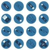 USB传染媒介深蓝平的象 皇族释放例证