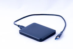 USB便携式的硬盘 库存图片