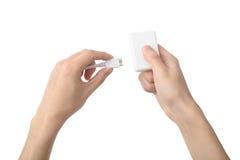 USB存储卡读者 库存照片