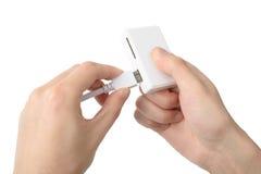 USB存储卡读者 库存图片