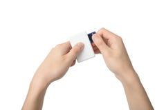 USB存储卡读者 免版税图库摄影