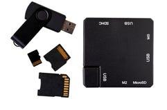 USB插孔 库存图片
