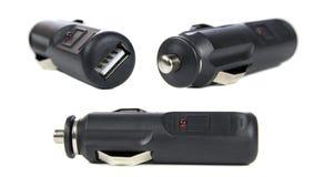 USB汽车适配器 库存图片