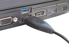 Usb电缆接头 免版税库存图片
