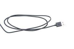 黑USB电缆接头 免版税图库摄影