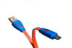 USB缆绳或绳子充电的。 免版税库存照片