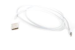 Usb缆绳闪电 库存图片
