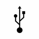 USB象传染媒介设计 库存照片